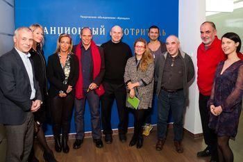 Янис Варуфакис и Дефне Айяс на выставке «Станционный смотритель»