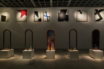 Инсталляция Ивана Чуйкова в галерее OVCHARENKO